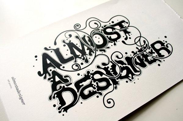 英文字体设计欣赏