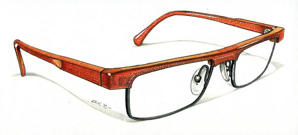 手绘眼镜工艺设计
