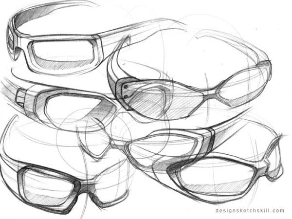 眼镜素描图片步骤图
