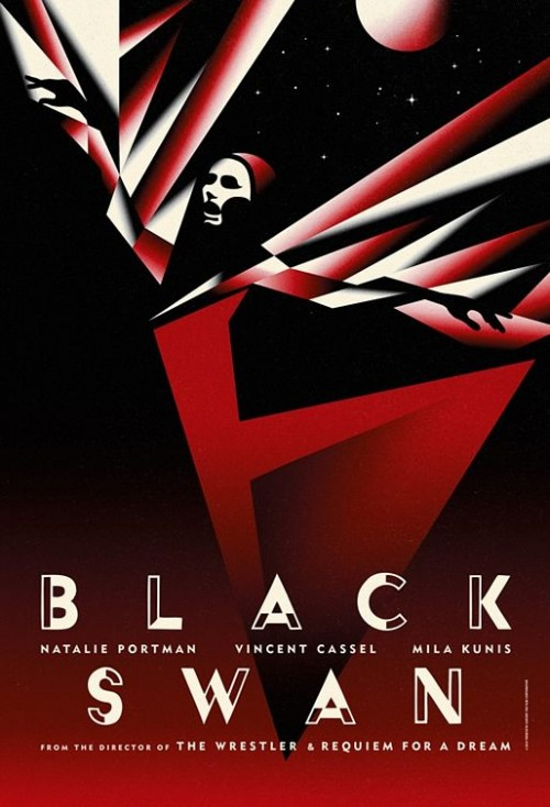 黑天鹅海报设计