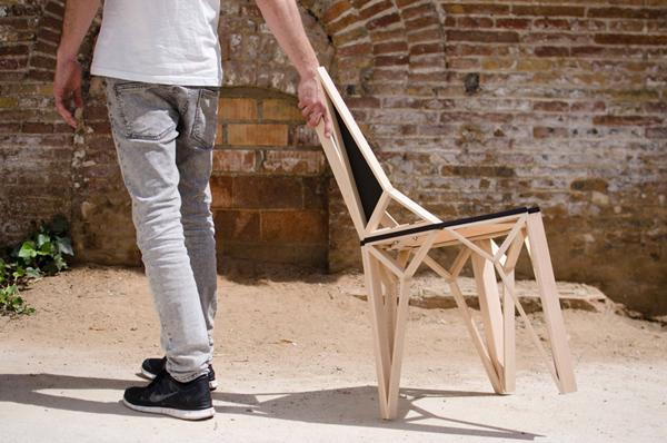 原木椅子设计
