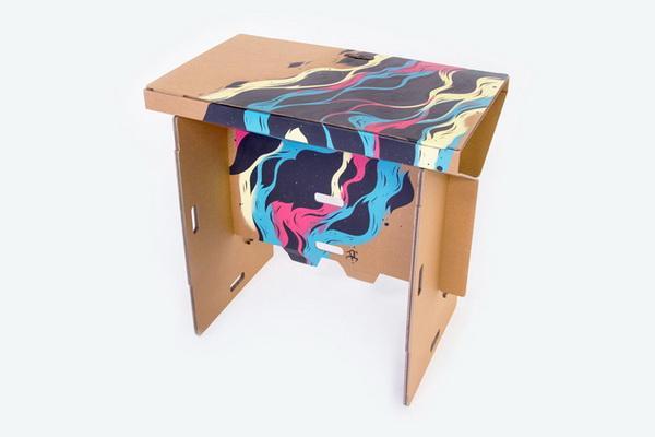 refold 便携式硬纸板创意桌子设计图片