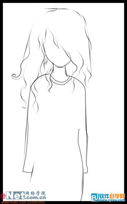 鼠绘可爱卡通小女孩