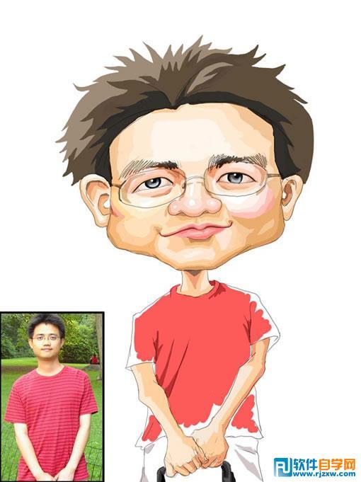 漫画素材人物脸型