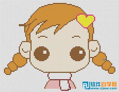 制作可爱的表情头像讲解 ps教程 - 软件自学网