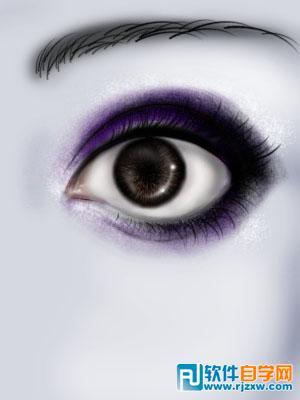 蓝色眼睛的人手绘讲解