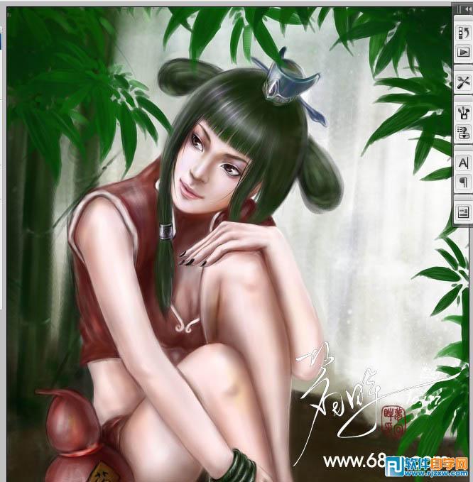 古代美女手绘图讲解