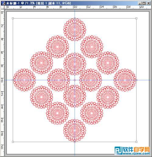 汇处为中心绘制正方形选区.并将其定义成图案.-ps沿着路径填充图