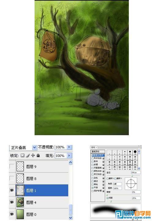 ps手绘插画教程