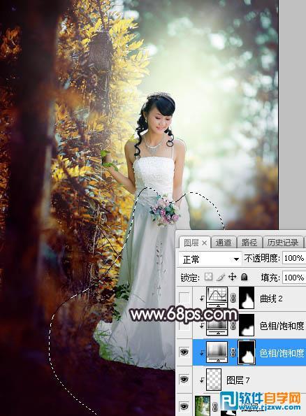 photoshop修婚纱照 ps教程 2 - 软件自学网