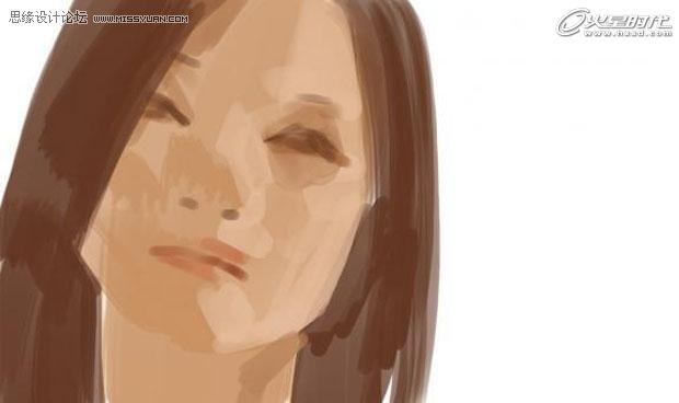 ps模拟手绘一张 美女图片头像