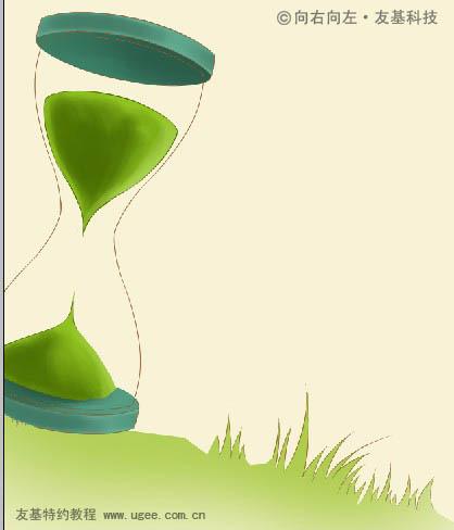 时间的沙漏背景图-粉色插画 人物手绘插画教程