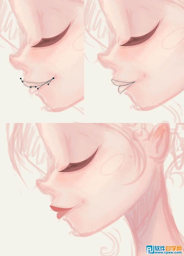 女生脸部文字p图素材