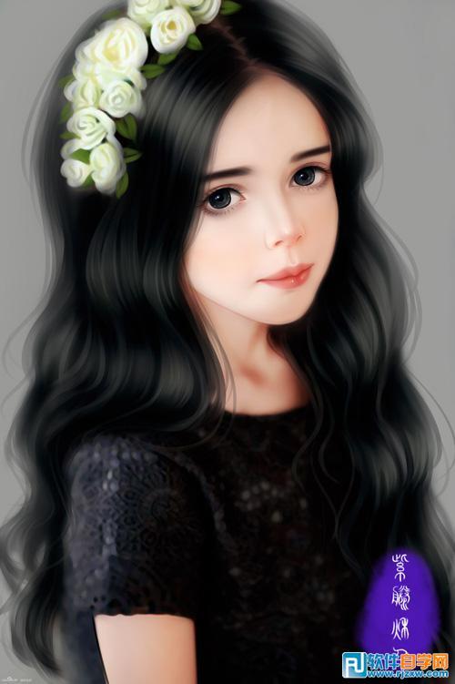 手绘可爱小女孩
