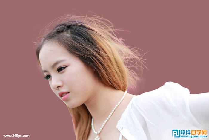ps人物抠图发丝