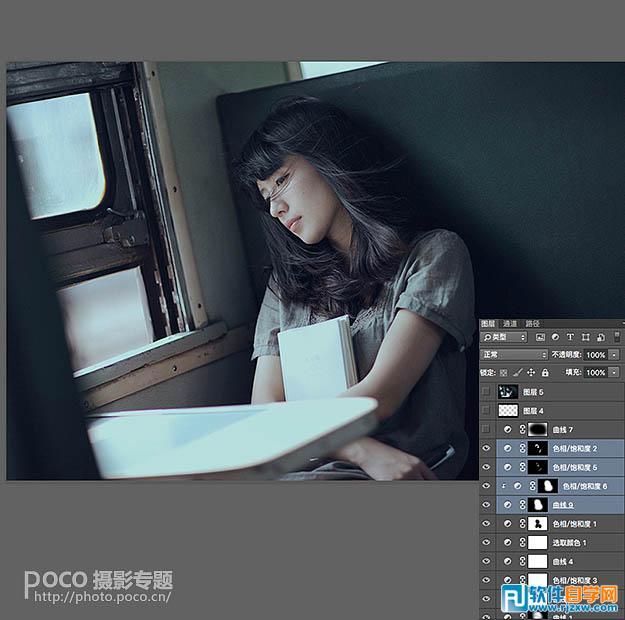PS如何把图片转为偏冷的影视画面_软件自学网