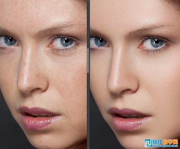 Photoshop人物磨皮的三大方法_软件自学网