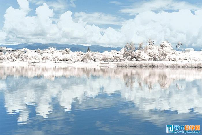 Photoshop如何修出梦幻雪景图片_软件自学网