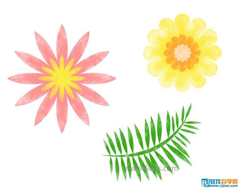 热带花朵叶子海报素材