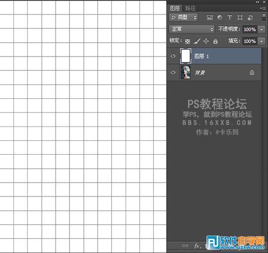 此教程由软件自学网首发,所以风格间隔为100像素保证了每个格子都是正图片