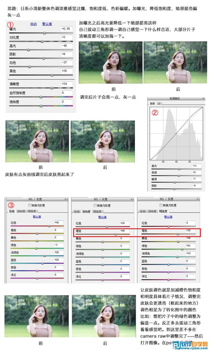 ps小清新调色教程_软件自学网