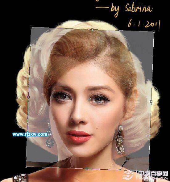 PS快速把沙龙的脸换了美女美女奸图片