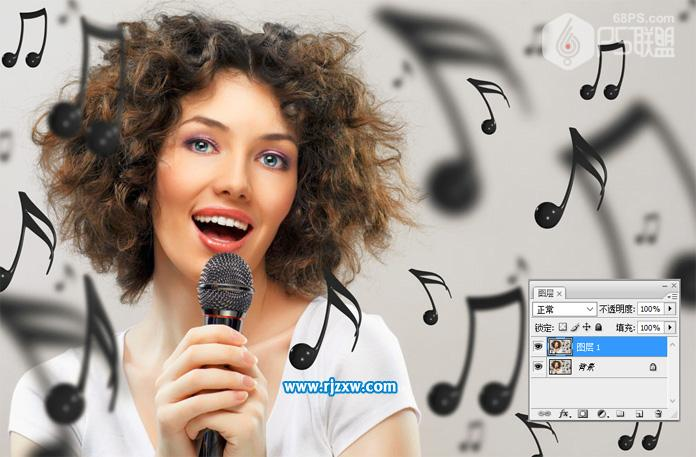 唱歌者用ps怎么做铅笔画效果_软件自学网