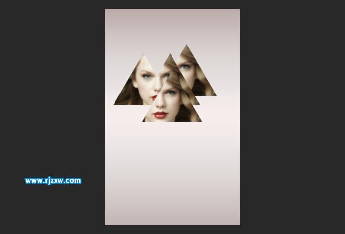 PS海报堆叠设计_软件自学网