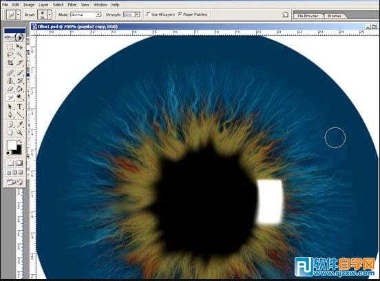 ps滤镜制作瞳孔放大图图片