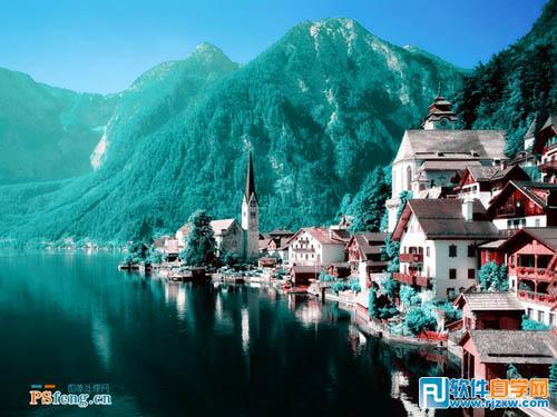 通道调色让风景照片更梦幻_软件自学网
