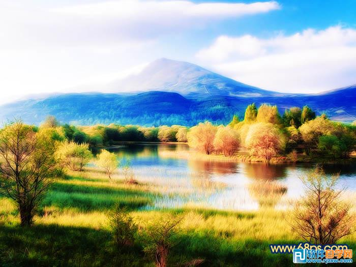 打造风景照片梦幻冷暖色 ps教程 - 软件自学网