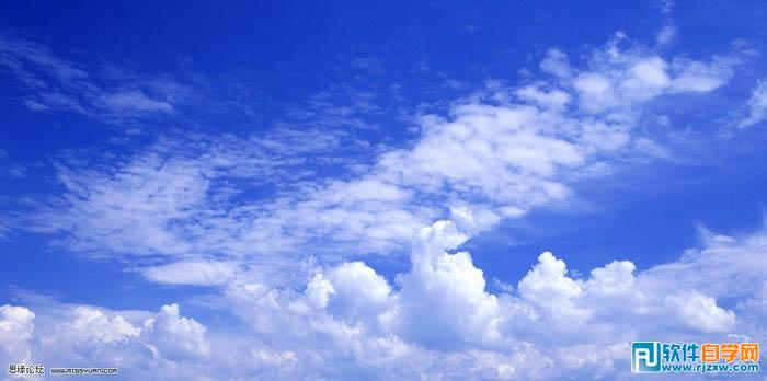 打造蓝色梦幻童话艺术图片 ps教程 - 软件自学网