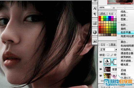 作品简介: 来源:中国教程网 作者:ylyinli原图素材由于偏色太严重。几乎不太可能修复。作者正是看到这点不去修复,而是尽量去美化照片。大致的美化过程。先把图片的色调单色化,然后再慢慢调整色彩的层级及对比,部分位置适当的上色处理。最后加上一些装饰效果如睫毛,头发等即可完成美化工作。