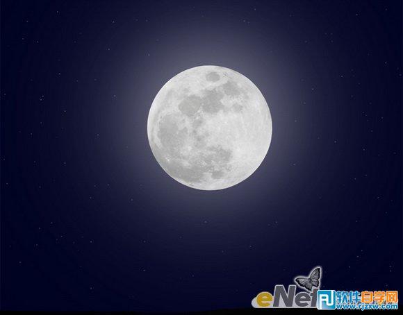 打开素材图片【月亮】