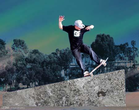 photoshop制作动感的滑板海报