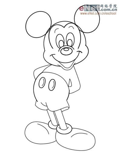 ps鼠绘超级可爱米老鼠