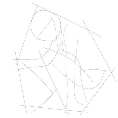 简笔画 设计图 手绘 线稿 500_500