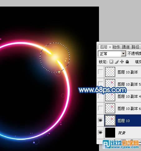 制作漂亮的彩色发光圆环_软件自学网