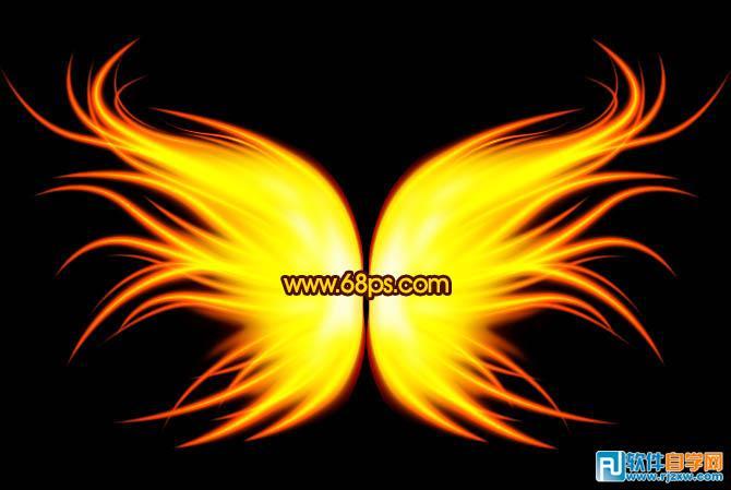 打造绚丽梦幻的火焰翅膀