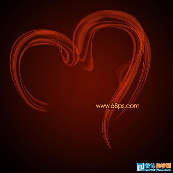 打造漂亮的情人节火焰心形