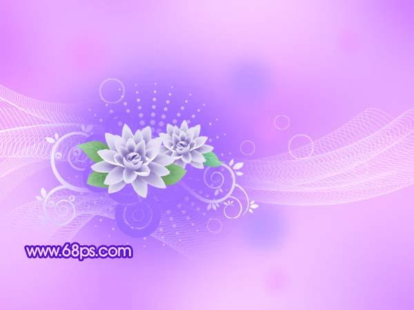 打造梦幻的蓝紫色花纹壁纸