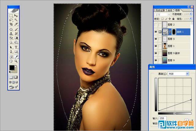 photoshop调出古典欧式暖色室内人像图片教程