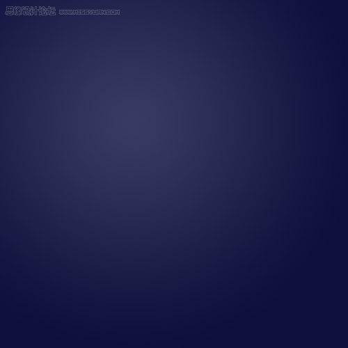 我使用了一个径向渐变,用的是两个深浅不一的蓝色.