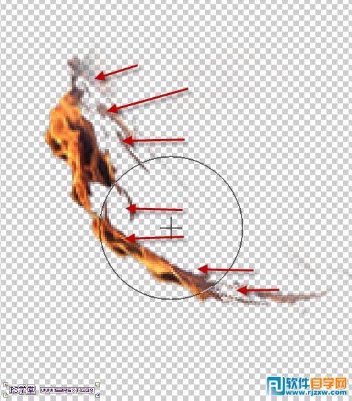 复制火素材,我们用液化工具来改编下火的整个走势