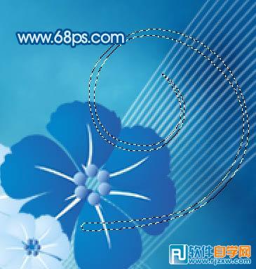 洁的蓝色花朵壁纸