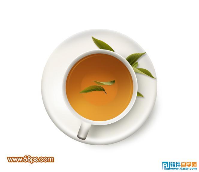 由于是正视图,我们看到的茶杯只有杯口没有高度.