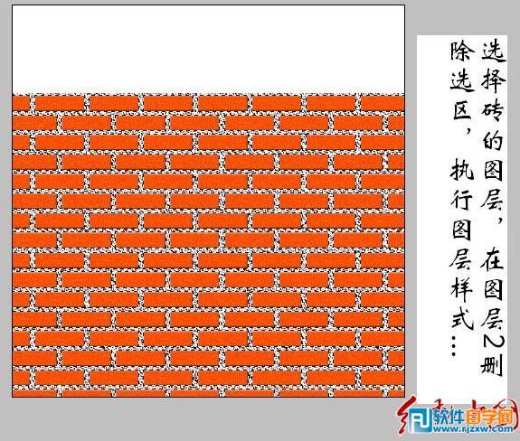 作品简介: 红砖墙壁大致由两部分构成:砖块及砖缝间的水泥。制作的时候我们先制作出砖块部分,用填充色及简单的滤镜做出一块砖,然后复制做出想要的墙壁。再用选区和滤镜制作出水泥部分。后期用图层样式增强一下立体感即可,方法非常简单实用。