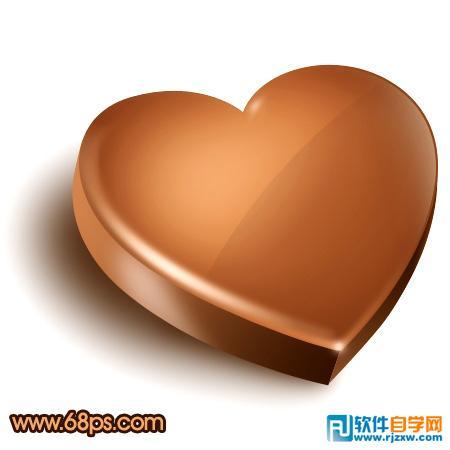 制作光滑的巧克力立体心形