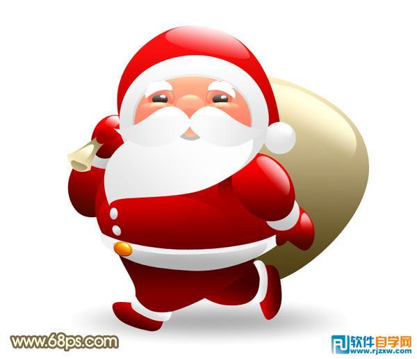 制作可爱的红色卡通圣诞老人