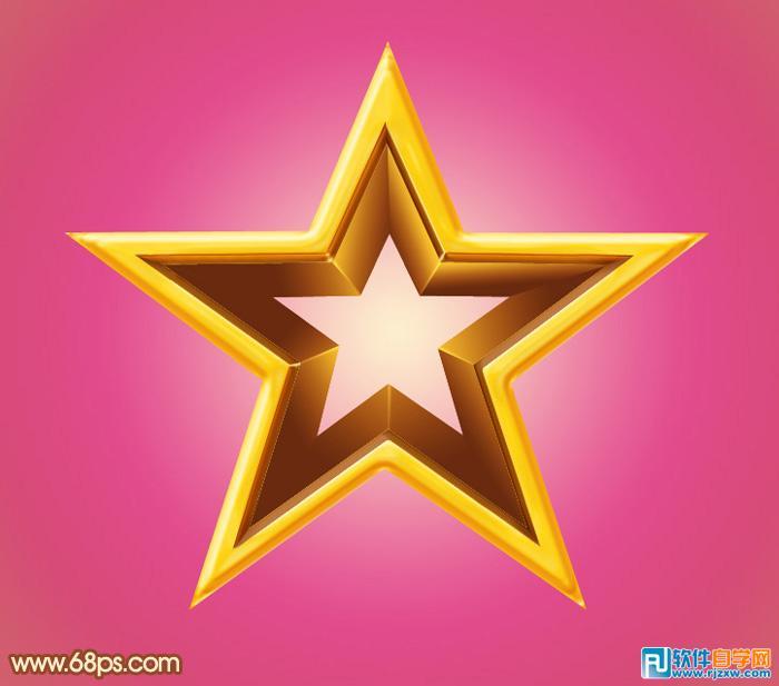 立体金色五角星